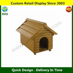 DOLLS HOUSE 1/12th SCALE WOODEN DOG KENNEL YM5-505