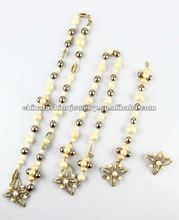 Euro-America Luxurious Pearl And Leaf Jewely Set