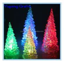 Christmas Tree Acrylic Colorful Changing LED Desk Decor