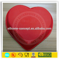Heart shaped non-toxic large non stick silicone molds