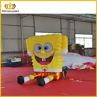 Giant inflatable SpongeBob SquarePant cartoon for advertising, inflatable cartoon 2m