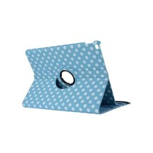 Beat selling Colorful Dots 360 Degree Rotating Tablet Leather Stand Case for ipad 5
