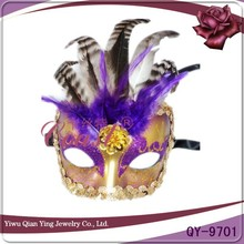 Cheap venetian feather party eye masks for sale