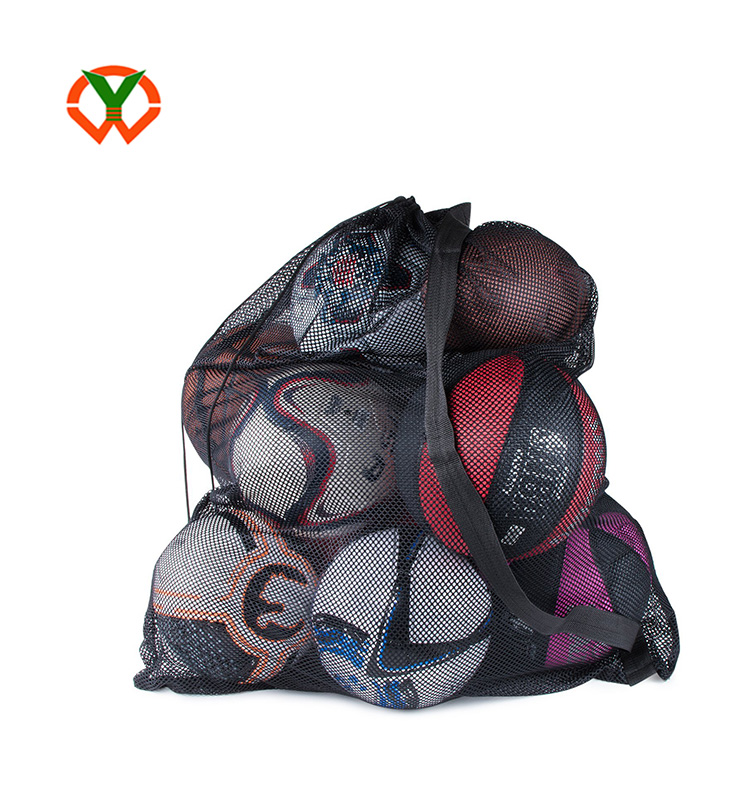 factory price sturdy sports ball bag drawstring mesh bag