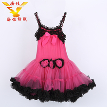 new arrival flower sling girl medium puffy tutu dresses for kids