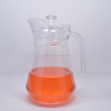 1.3L Drinking Clear Glass Hot And Cold Water Glass Jug