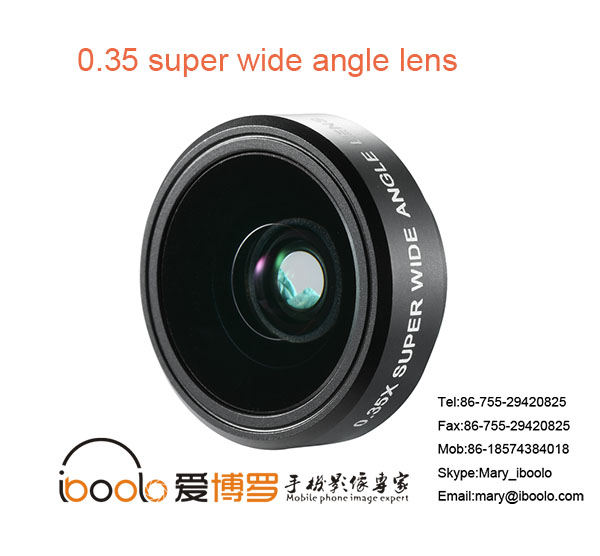 High-quality smart phone accessory 0.35x Super Wide Angle Macro lens for phone camera