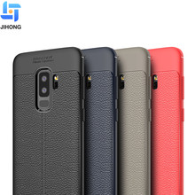 2018 new arrival protective silicone leather texture tpu mobile phone back cover case for samsung galaxy s9 plus