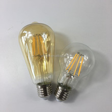 USA market UL listed Edison shape warm white light bulbs 2700K E27/E26/B22 4W/6w ST64 LED filament bulbs