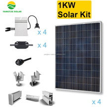 Grid tie 1kw kit panel solar