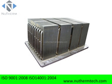 heatsink copper extrusion with heatpipes for IGBT