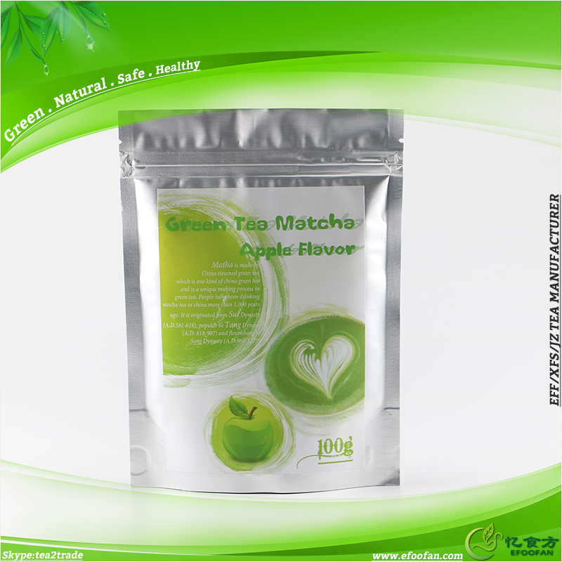 Hangzhou Factory Drop Ship Flavoured Matcha Apple Tea Powder