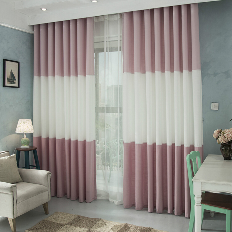 Top sale polyester cotton blue window curtain for living room