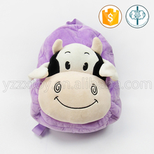 purple kids cow backpack by china manufacturers