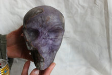 9.5LB Natural Agate With Amethyst Geode Crystal Skull Carved Head Sculpture Healing ,Tianniu