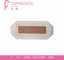 Sterile Self-adhesive Paper Frame Post operative water-proof Transparent PU Island Dressing with Absorbent Pad
