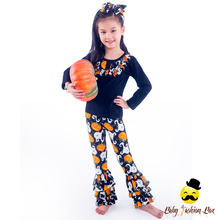 New Fashion Pumpkin Pattern Baby Clothes 1 Set Halloween Children Clothes 2017 Adult Girls Frock Baby Sets of Clothing