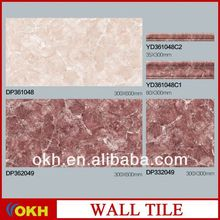 OKH Maroon and creamware marbles, ceramic digital wall tiles
