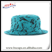 All over print blue customized wholesale bucket hats