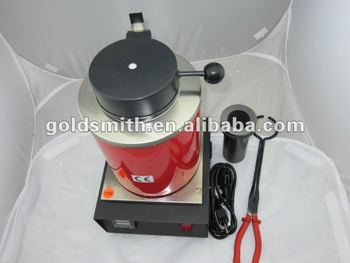 Automatic Melting Furnace ,Silver & Gold Melt Scrap with Pour Bar