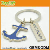 Free samples anchor keychain with city name