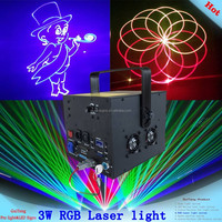3w stage disco laser show lighting rgb full color animation dj laser lights for sale