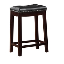 ANJI China Made Cambridge Padded Saddle Fabirc PU Leather Counter Height Bar Stool NO.AF16A