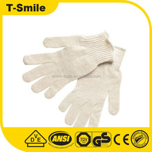 Wholesale Cotton Knitting Safety Work Gloves Industrial White Cotton Gloves