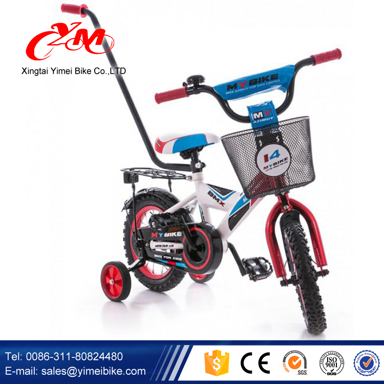 Yimei brand or OEM new model children bicycle/beautiful pictures of kids bike/Humanized design plastic push bike with push bar