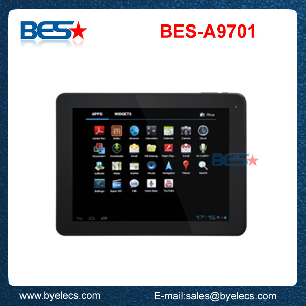 New Item! 9.7 Inch Tablet Boxchip A20 dual core Tablet PC Android 4.1 Free Game