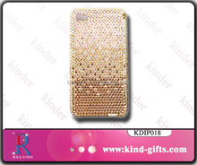 Gold color changing bling bling rhinestone high end quality cell china phone case manufacturer