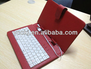 high quality ! universal keyboard case for 9.7 tablet Micro Mini USB other size is available promotional price made in china