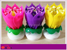 fireworks flower music birthday candle packing with color box