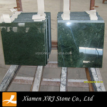 Cheap Polished India Dark Green Marble Tiles For Sale