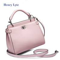 New pure color female bag small fashion casual bag cowhide single shoulder bag satchel