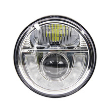 "e-approved dot 7"" LED headlamps jeep motorcycle headlamp"