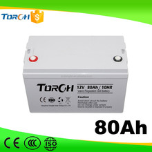 3 years warranty maintenance free 12v 80ah Promotional GEL batteries