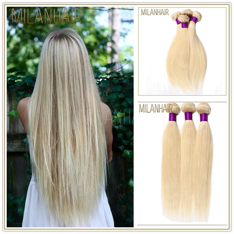 8A Grade Blonde Straight Hair 100% Virgin Brazilian Remy Hair In Chicago