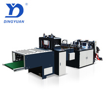 FG-450*2 Sanyuan Factory professional plastic OPP PVC HDPE LDPE Hot-cutting pe ziplock bottom bag making machine and price
