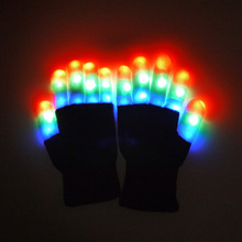 Promotional Glow In the Dark Night Party Custom Flashing LED Gloves