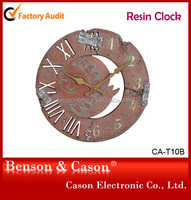 Sun Shape Resin Wall Clock
