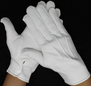 cheap hand funeral parade ceremony eczema white cotton gloves