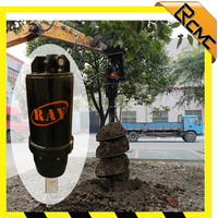 Hydraulic Post Hole Rock Earth Auger Rotary Drill for Excavator
