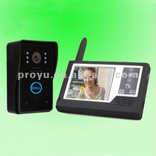3.5inch TFT Wireless Video Door Phone taking picture / high brand black panel / outdoor unit in Li-baterry PY-V359MJ11