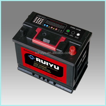 DIN standard high quality 12v 75ah auto battery ON Chinese Maket