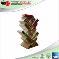 Creative design cardboard book/brochure display stand on table, shoes stand display,bakery display stand rack,