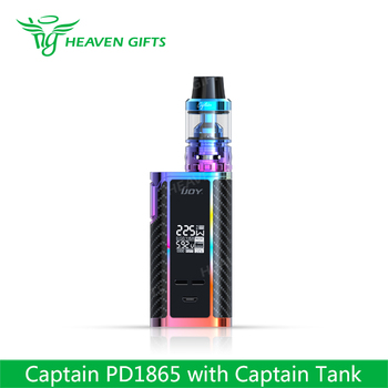 Newest Releaseed Vape 4ml Captain Atomizer 225W IJOY PD 1865 variable watt mod