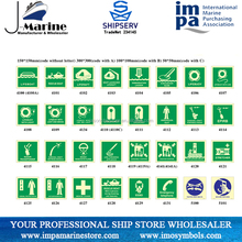 Photoluminescent self IMO Symbols Safety Signs For Marine Use