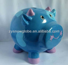 Resin animal shape piggy money bank