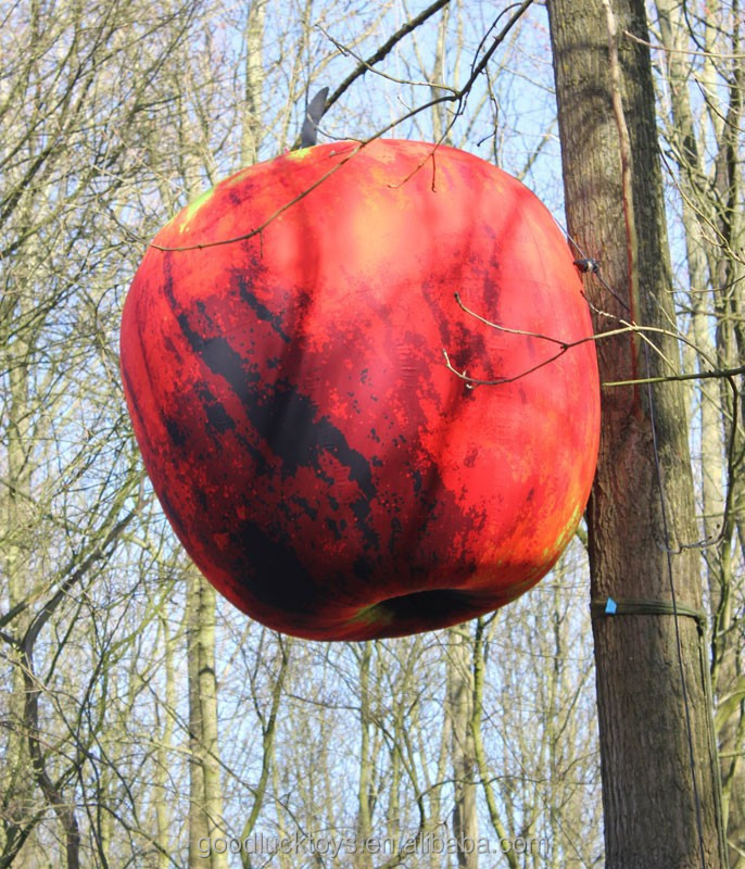 Giant inflatable red Apple for decration